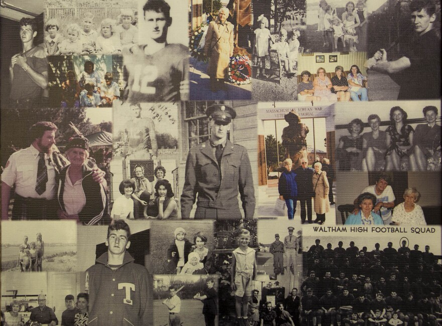 A photo collage of family photos featuring Robert Dakin created by David Cline.