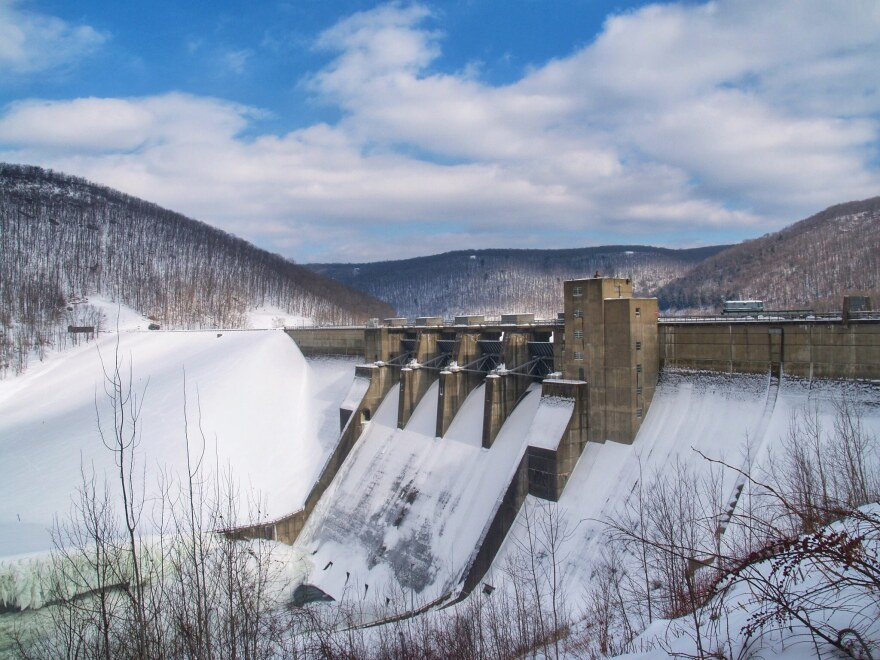 The hydroelectric power station at the Kinzua Dam on the Allegheny River (pictured above) is one of the larger hydropower projects in Pennsylvania—generating enough electricity to power 400,000 homes.
