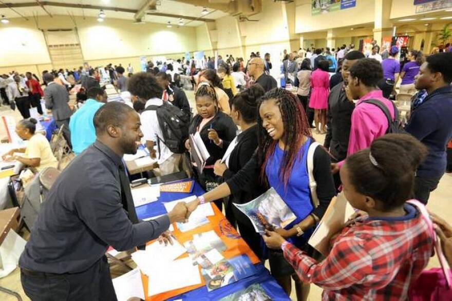 A college fair in Miami-Dade County.