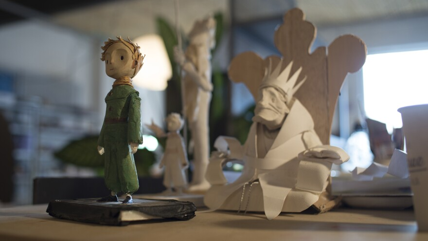 Osborne's film adaptation of <em>The Little Prince</em> has CGI, hand-drawn paper cut-outs and clay animation.