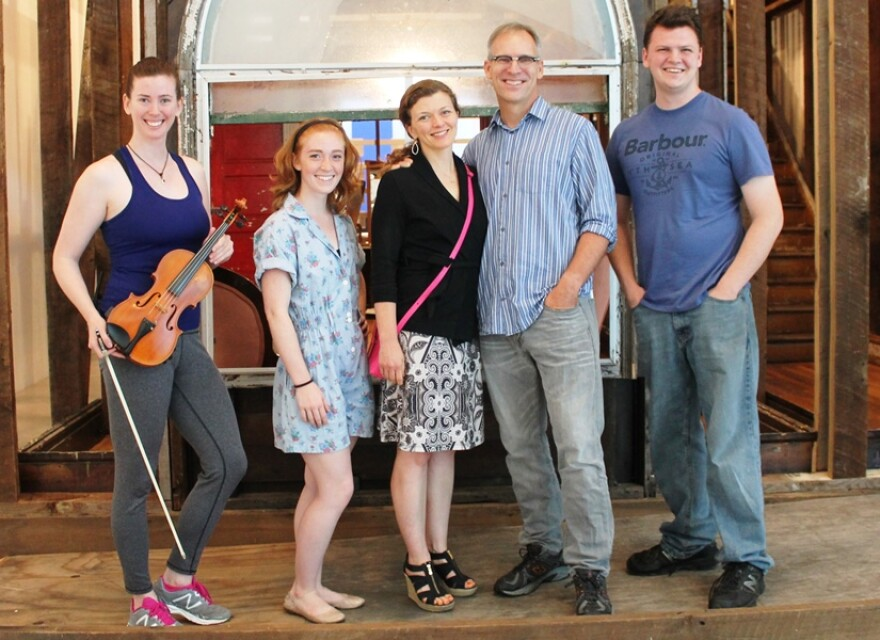 The cast of Love's Labor includes violinist and narrator Laura Sexauer, Mariah Studebaker and Meghan Baker as the younger and older wife and Michael James Reed and Zak Moran as the older and younger husband.