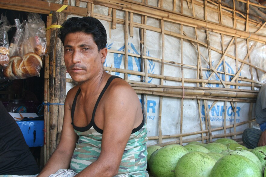 When Rohingya refugee Foyes Ullah heard noises one night, he first thought robbers were tearing at the walls of his shelter. It was actually an elephant.