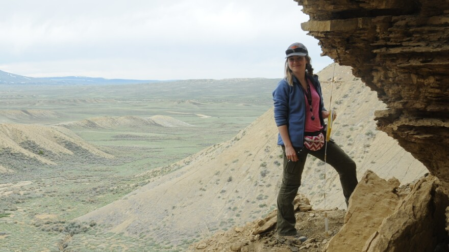 Keri Belcher, who has worked in the oil and gas industry, says she's considering switching careers — even if it means less time outdoors, which is what attracted her to geology in the first place.