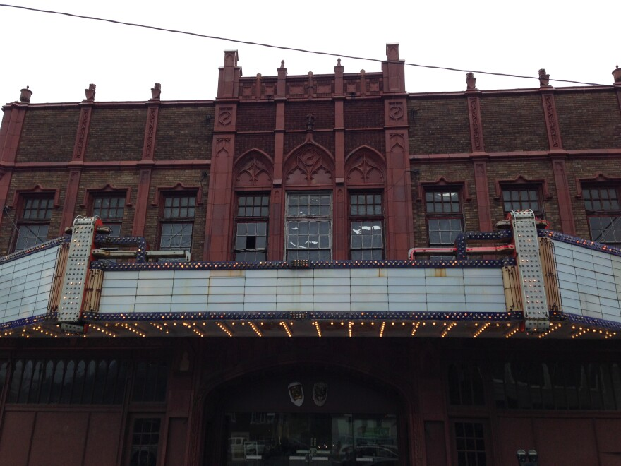 The Robinson Grand, or Rose Garden Theater in downtown Clarksburg.