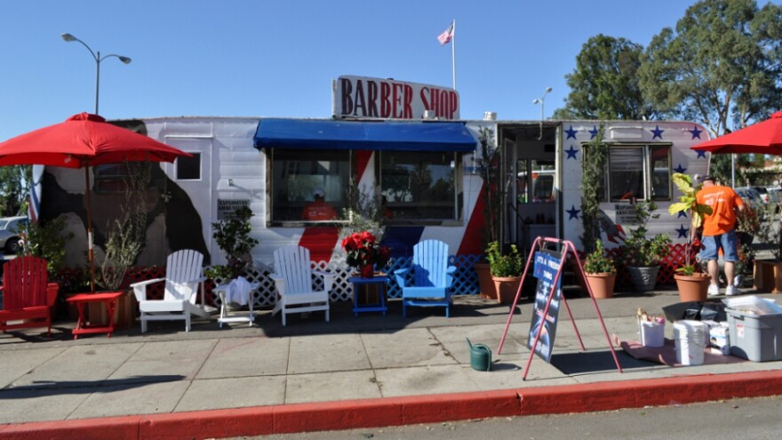 """The barber shop run by Anthony Bravo Esparza — whom everyone knows as """"Dreamer"""" — is a fixture at the VA Greater Los Angeles Healthcare System's West Los Angeles Campus."""