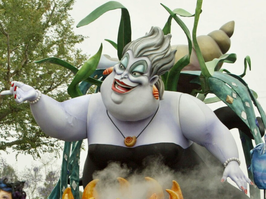 "The Ursula float from the ""Little Mermaid"" entertains visitors to Disneyland in May 2005 in Anaheim, Calif."
