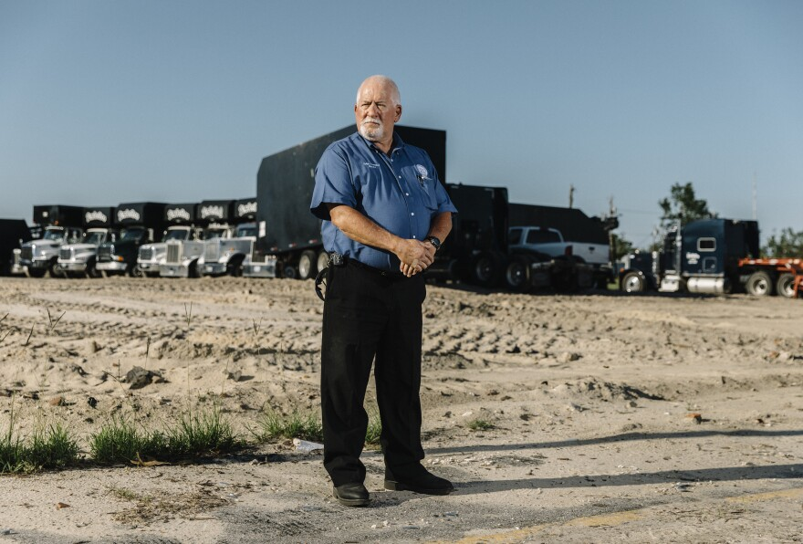 "Mayor Ralph Hammond of Springfield, Fla., one of the small cities in Bay County, rode out the hurricane in City Hall. The building was destroyed and has since been demolished. The site is now used as a staging ground for debris haulers. ""We thought we'd be here for a long time,"" he says. ""Michael decided it wasn't going to be."""