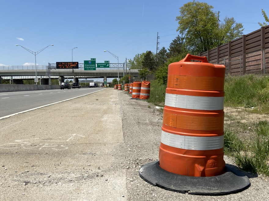 Lower traffic levels have allowed some ODOT work that would normally be shifted to night hours to continue in daylight.