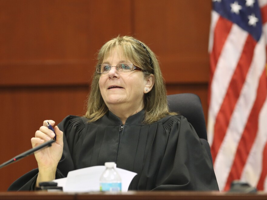 Judge Debra Nelson addresses concerns from the state and defense during a pretrial hearing on Friday.