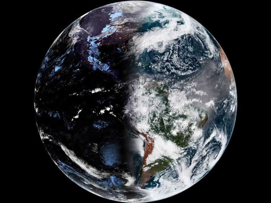 The vernal equinox falls on March 19 nationwide this year. It's the earliest start to spring since 1896. This photo shows the Earth shortly before the moment of the equinox on March 20, 2019.