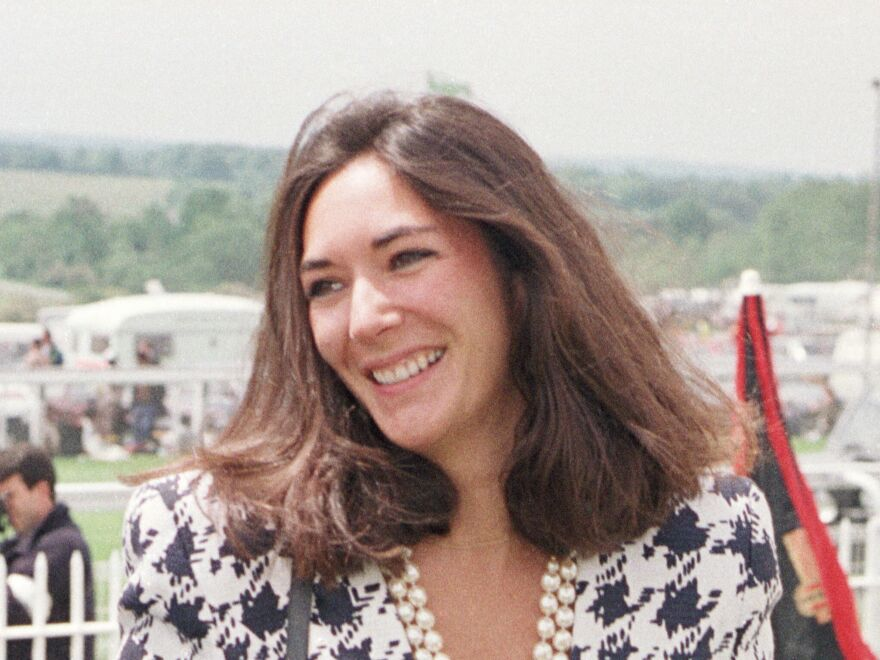 British socialite Ghislaine Maxwell, Jeffrey Epstein's former girlfriend, is pictured in 1991. She now faces multiple counts related to sex trafficking of minors and<strong> </strong>perjury. She has pleaded not guilty.