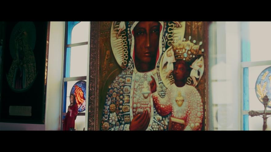 Black Madonna on San Antonio's East Side.