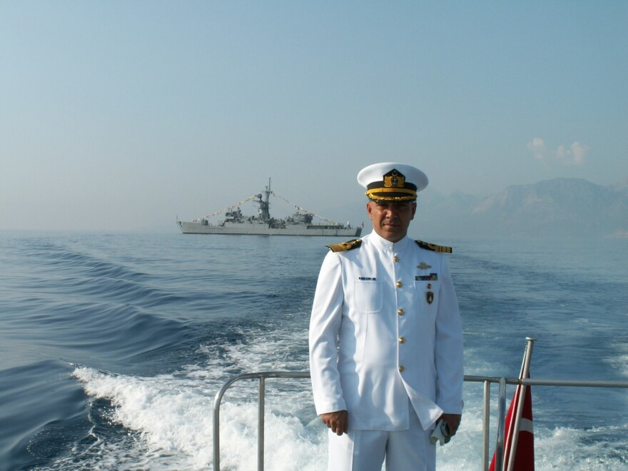 Turkish Admiral Mustafa Ugurlu who's seeking asylum is the U.S., is fearful the Turkish military will track him down.