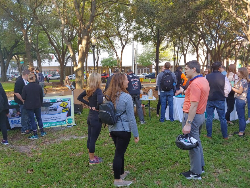 Bike to Work rally at Lykes Gaslight Park in downtown Tampa to raise awareness about bike safety and alternate modes of transportation.
