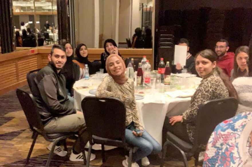 Palestinian COVID-19 patients quarantined by the Israeli military attend a Passover Seder at the Dan Jerusalem Hotel.