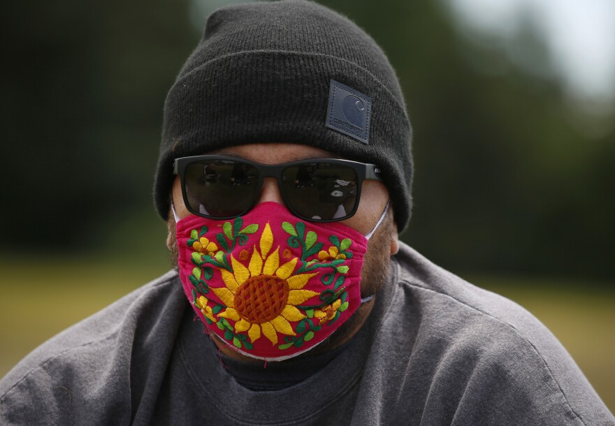 """A Puget Sound John Brown Gun Club member known as Xicano was moved by how van Spronsen, a European immigrant, stood up for Latino immigrants by """"making the ultimate sacrifice."""" For safety reasons, Xicano asked to be identified only by his club nickname."""