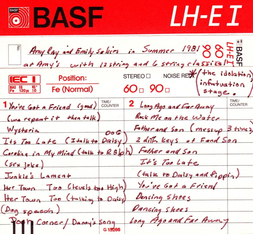 A cassette from Saliers and Ray's high school years.