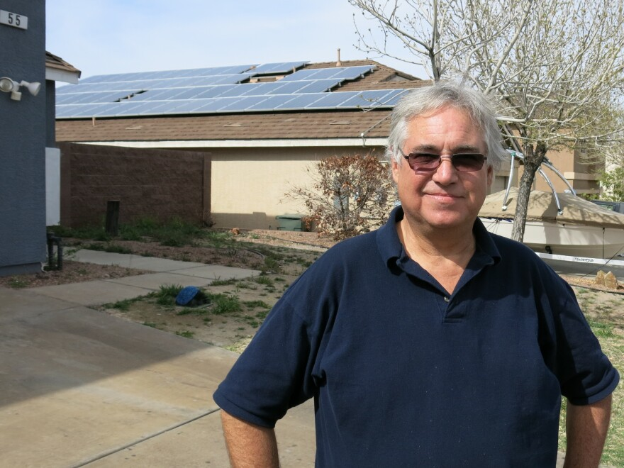 Dale Collier refinanced his house to install solar panels in 2011. He thought it would save him money long-term, but now says that without state solar incentives it was a bad decision.