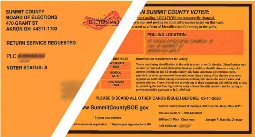 Voters in the affected Summit County precincts received postcards notifying them of the changes.