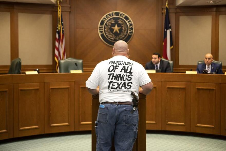 With the proper license, visitors to the Texas Capitol are allowed to carry open or concealed guns.