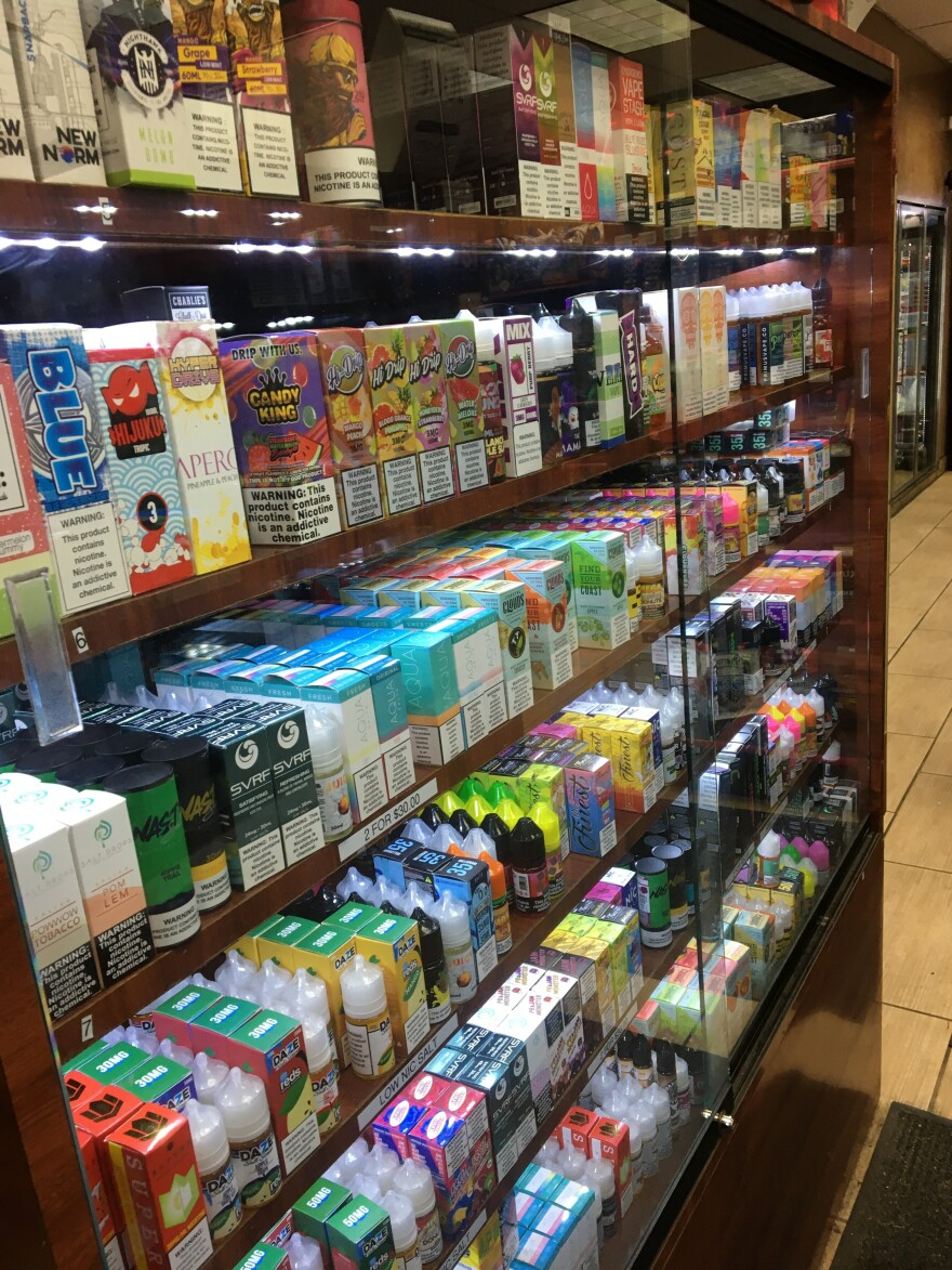 The manager at Bono Gas and Vape Shop in Kenosha, Wis., has been closely following the news about people getting sick from vaping.