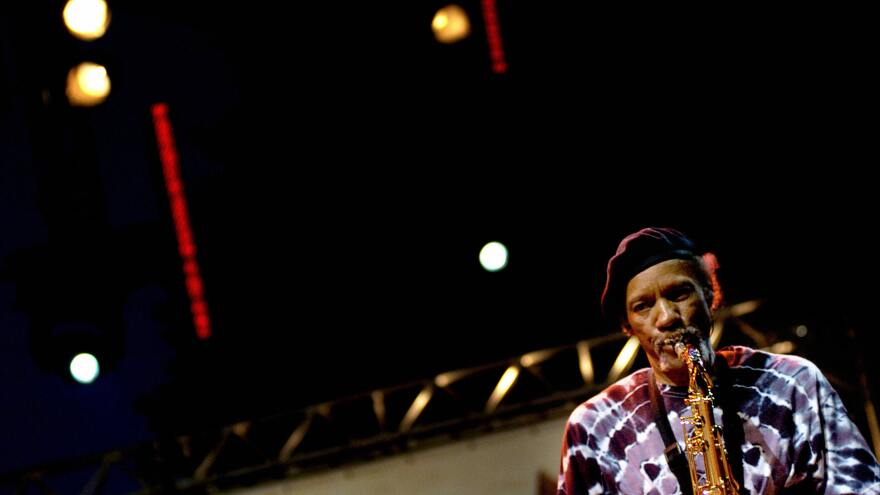Charles Neville performs with The Neville Brothers in France in 2009.