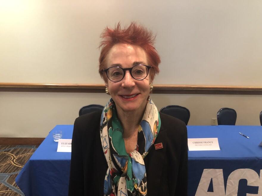 a photo of ACLU legal director Freda Levenson
