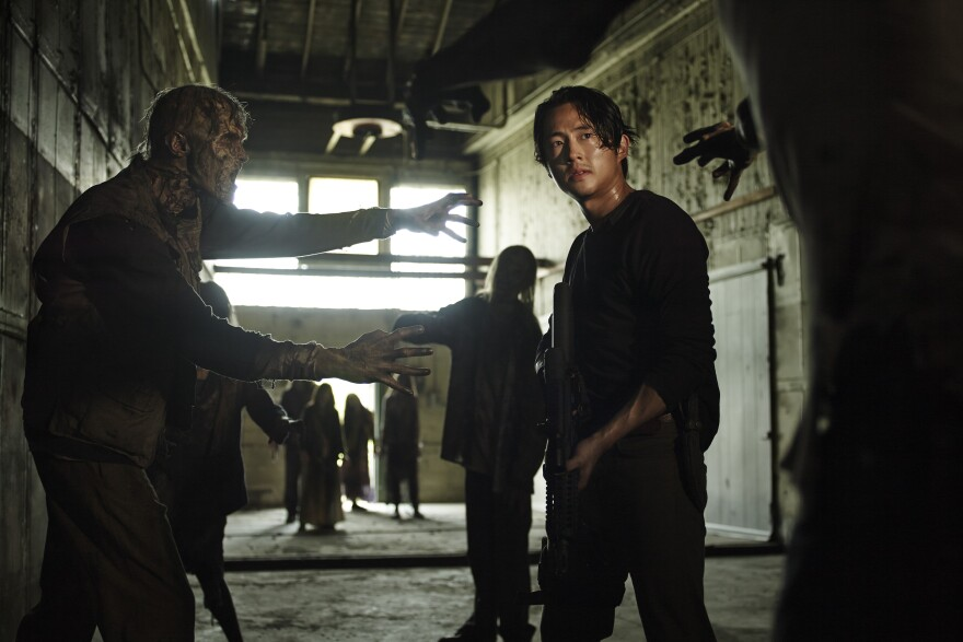 Steven Yeun as Glenn Rhee in AMC's <em>The Walking Dead.</em>