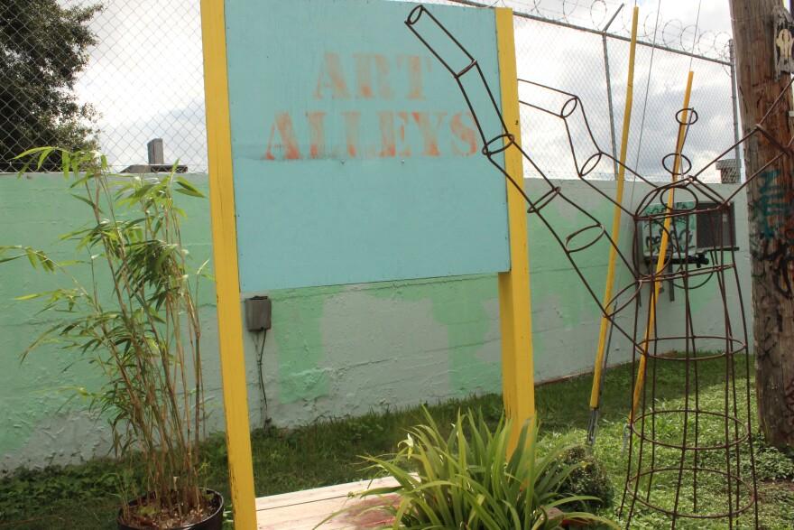 """""""Art Alleys"""" entrance sign"""