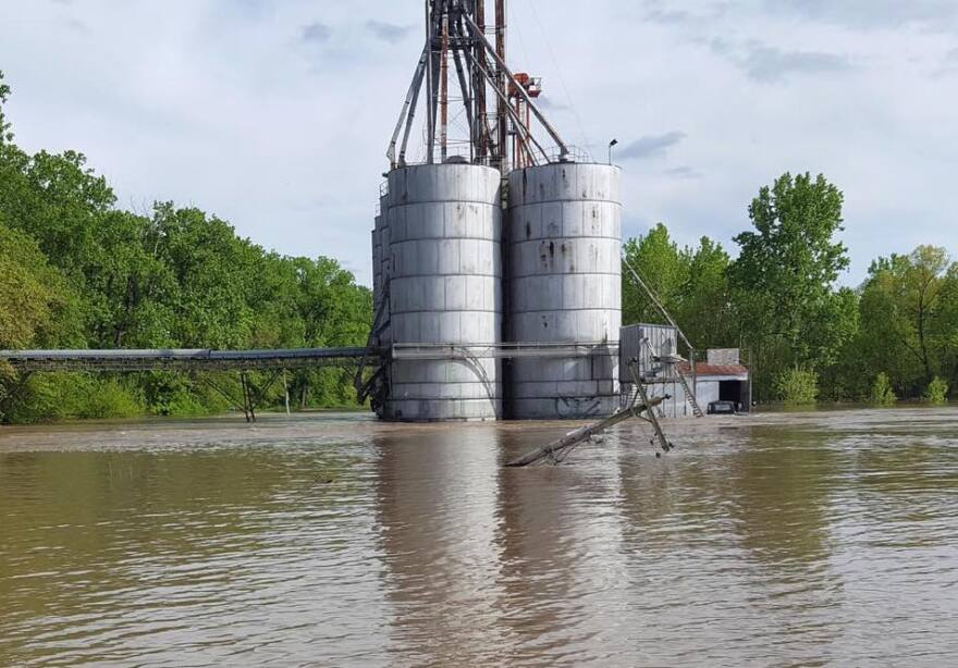 The main levee in Winfield failed May 4, 2019, near the Pillsbury grain elevator on Pillsbury Road.