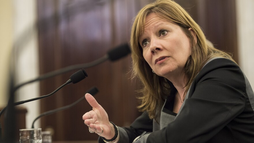 General Motors CEO Mary Barra testifies before a Senate panel July 17 at a hearing about auto safety recalls.