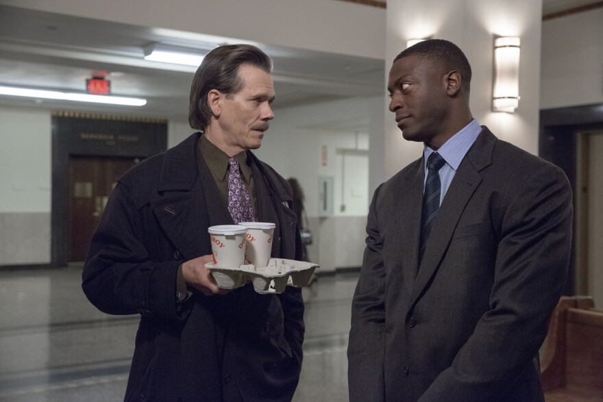 Aldis Hodge stars opposite Kevin Bacon as unlikely collaborators in the period cop drama <em>City on a Hill.</em>