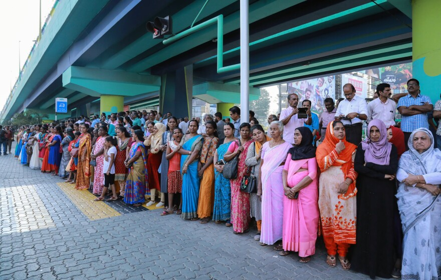 "Millions of women lined up along a highway in Kerala to form a ""women's wall"" on New Year's Day. For participants, the goal is gender equality."