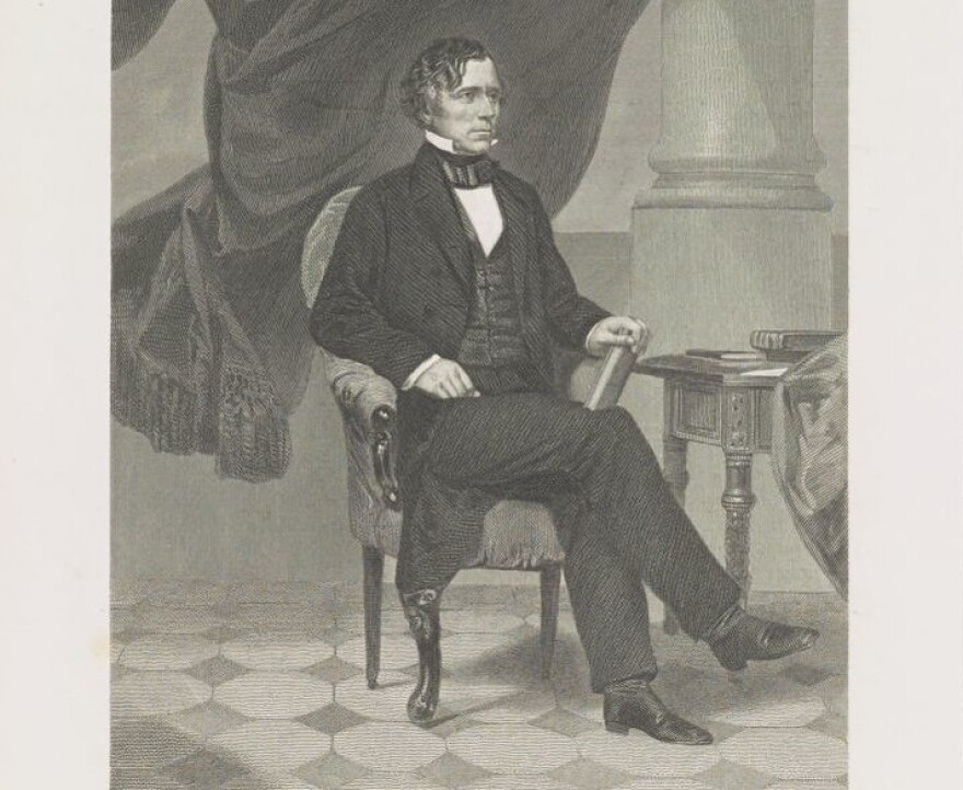 An engraving of President Franklin Pierce circa 1843.