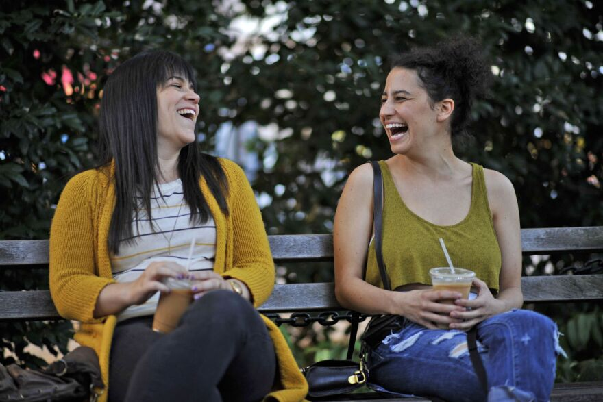 On <em>Broad City</em>, Abbi Jacobson (left) and Ilana Glazer play two single, 20-somethings living in New York City with dead-end jobs. They spend a lot of time hanging out, smoking weed and making each other laugh.