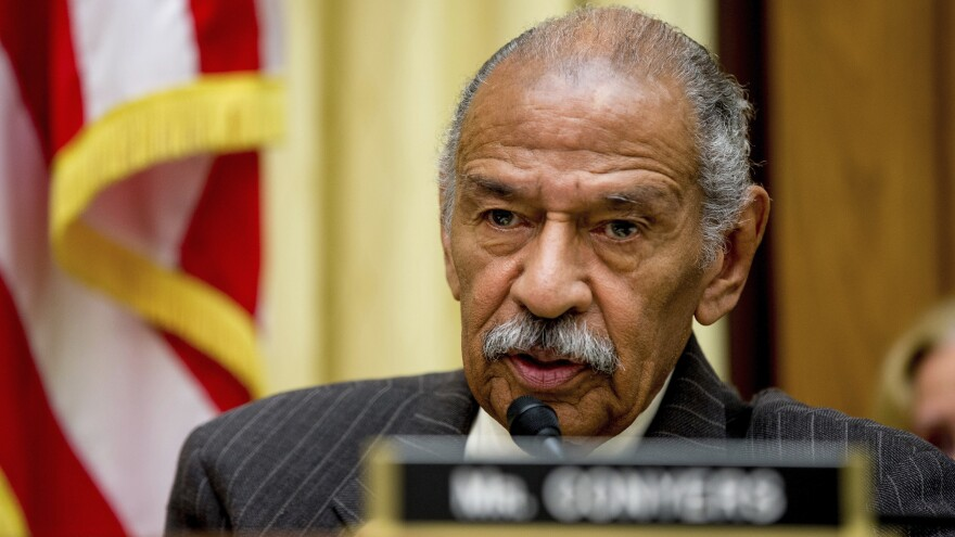 Rep. John Conyers, D-Mich., who has been accused of sexual harassment by former staffers, has been hospitalized.