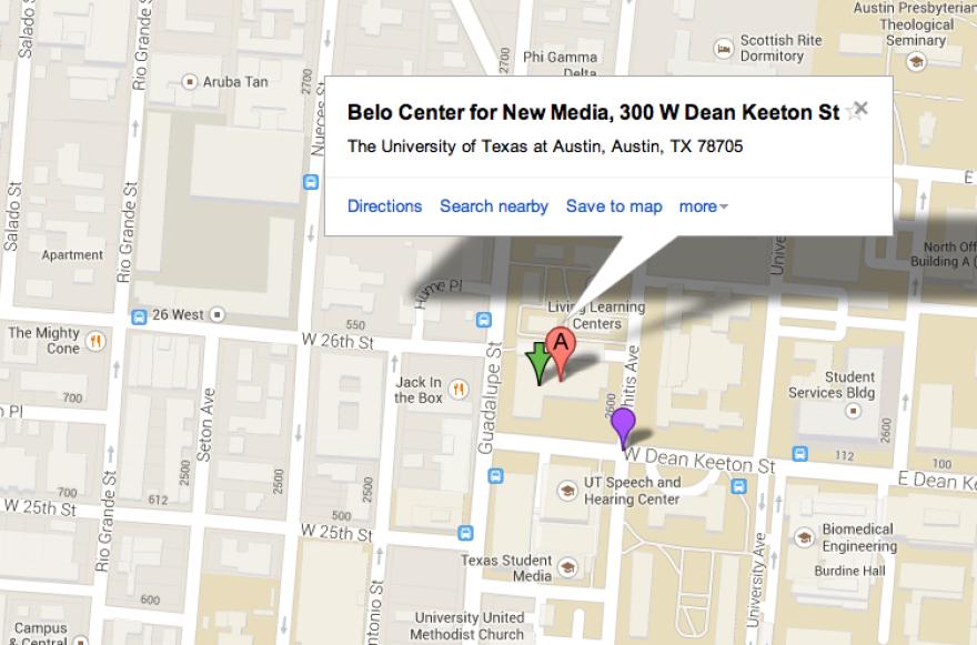 KUT studio map