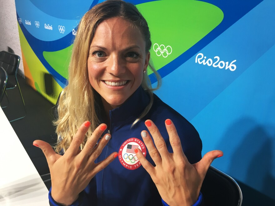 """Morghan King shows off her lucky manicure. """"I'm done!"""" she says."""