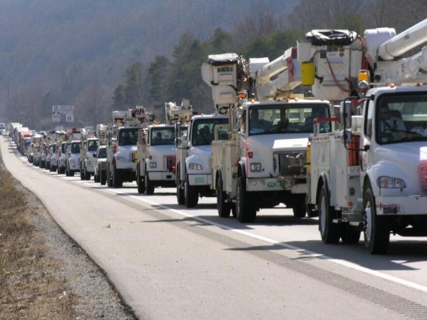 Duke Energy power trucks