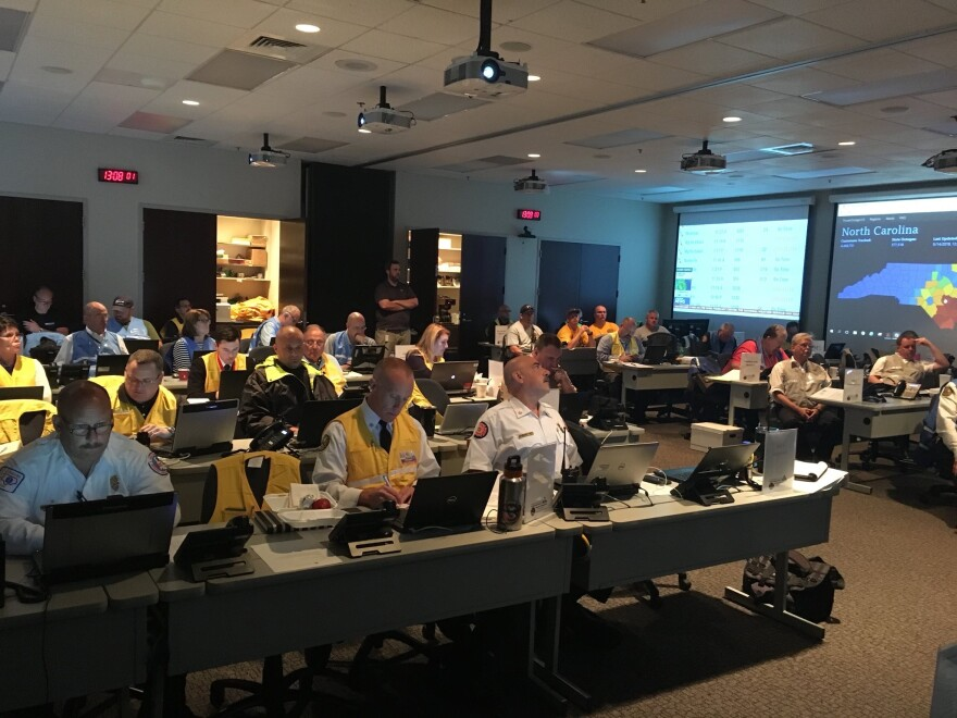 Charlotte-Mecklenburg Emergency Management team members are seen in the previous Emergency Operations Center in 2018.