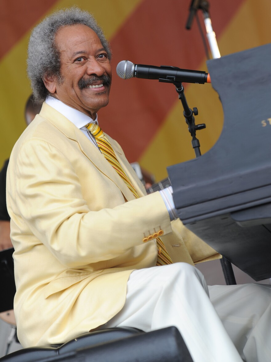 Allen Toussaint performs at the 2009 New Orleans Jazz & Heritage Festival.