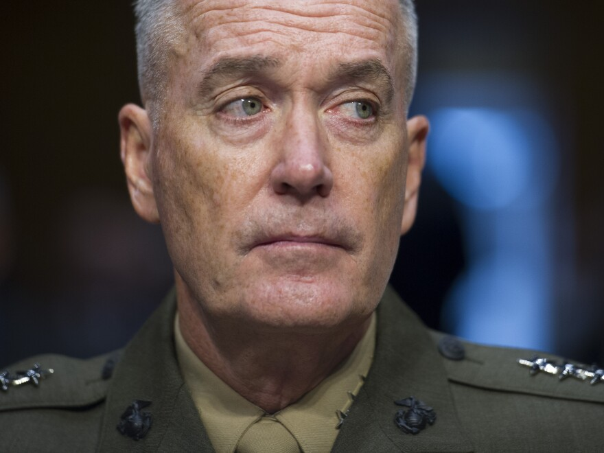 Marine Corps Commandant Gen. Joseph Dunford Jr. testifies Thursday during his Senate Armed Services Committee confirmation hearing to become the chairman of the Joint Chiefs of Staff.