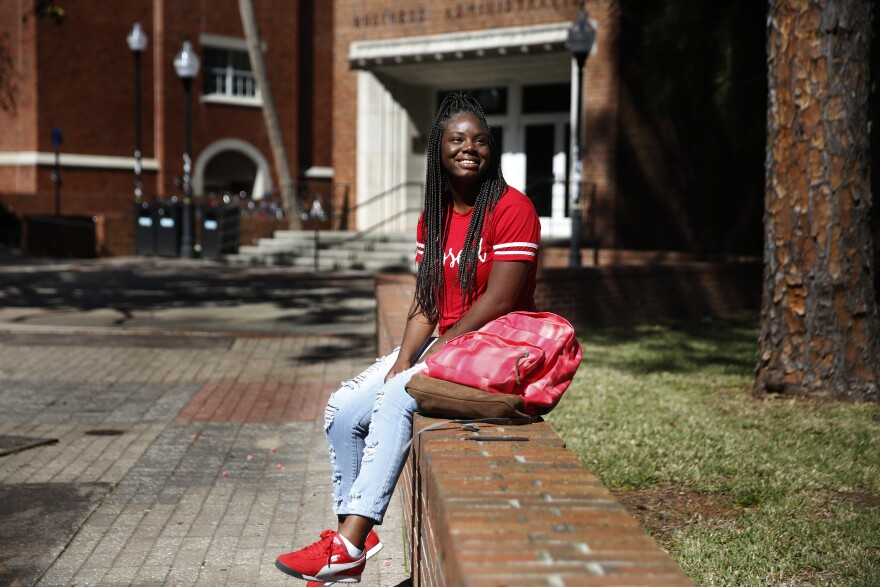 On campus and in class, Parks blends in, just another student. She relishes it; her courses are her escape.