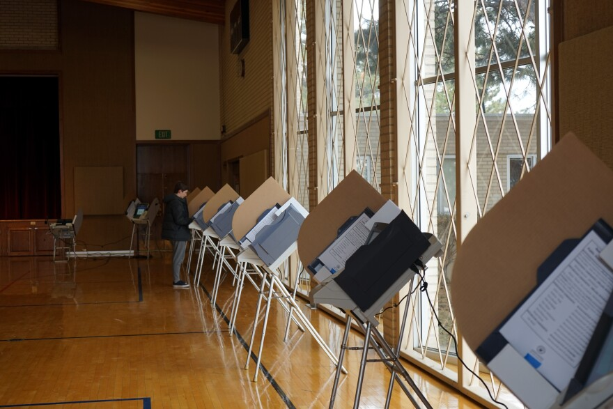 Photo of a polling place at a Church of Jesus Christ of Latter-day Saints in Salt Lake City