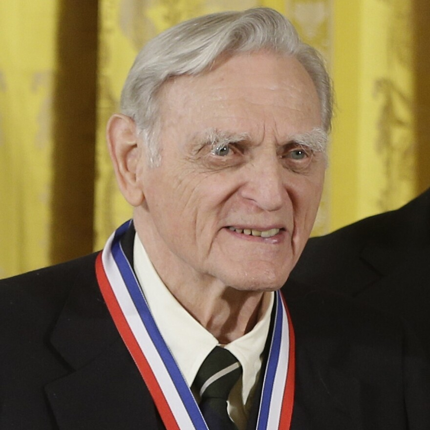 John Goodenough of the University of Texas at Austin wears his National Medal of Science during a ceremony in the East Room of the White House in Washington in 2013.
