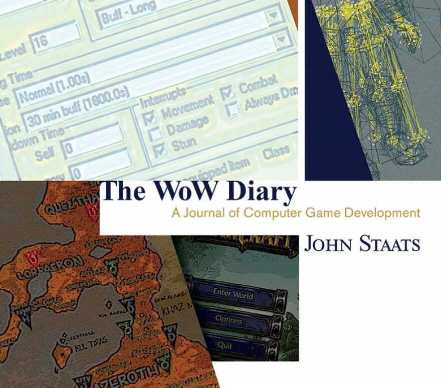 The cover of John Staat's book, The World of Warcraft Diary.
