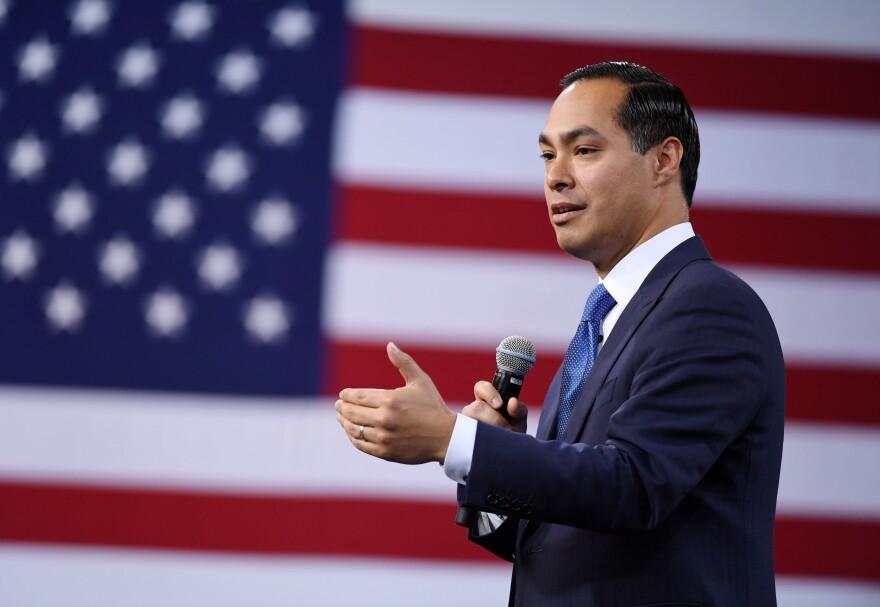 Democratic presidential candidate Julián Castro, pictured at a forum in Las Vegas on April 27, says he wants to decriminalize illegal border crossings.