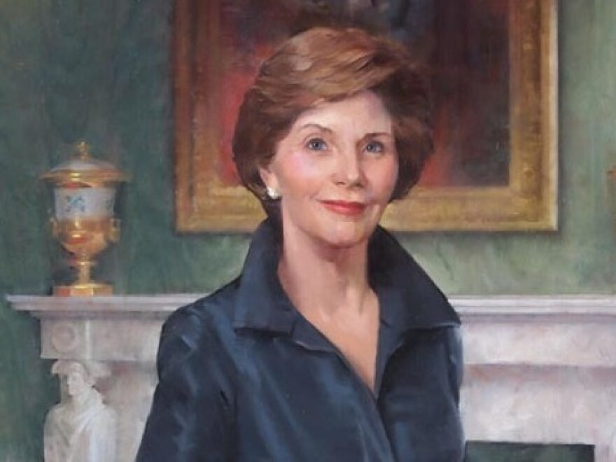 Laura Welch Bush by John Howard Sanden.