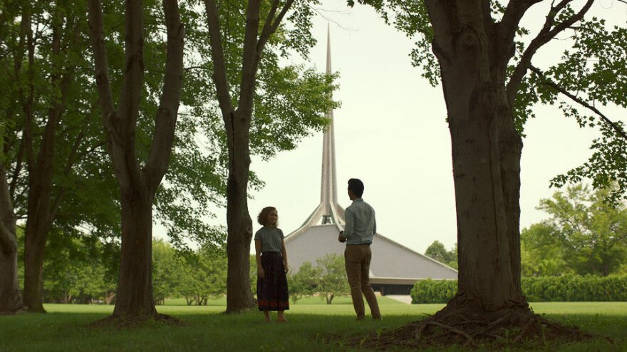 Jin (John Cho) and Casey (Haley Lu Richardson) find respite in one another and the architecture that surrounds them.