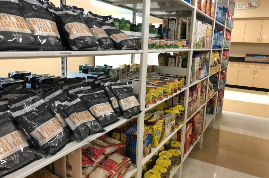 San Antonio College students can fill two grocery bags when they visit the food pantry on the Student Advocacy Center's second floor.